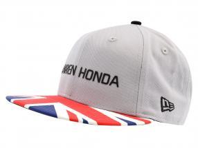 McLaren Honda Formel 1 2017 Alonso & Vandoorne Special Edition Großbritannien Cap grau M/L