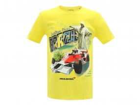 McLaren Greetings from Brazil James Hunt McLaren M23 T-Shirt gelb