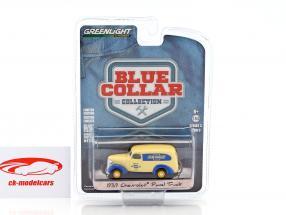 Chevrolet Panel Truck année de construction 1939 beige / bleu 1:64 Greenlight