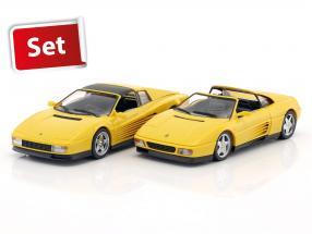 2-Car set Ferrari 348 TS & Ferrari Testarossa Spyder giallo 1:43 Herpa