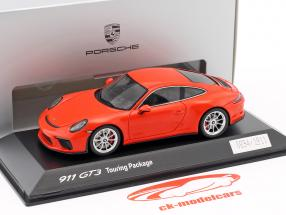 Porsche 911 (991 II) GT3 Touring Package 2017 lava orange 1:43 Spark