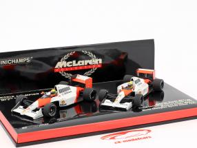 Ayrton Senna 2-Car set McLaren MP4/5B, MP4/6 World Champion formula 1 1990/1991 1:43 Minichamps