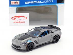 Chevrolet Corvette Grand Sport year 2017 gray / black 1:24 Maisto