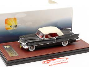 Cadillac Eldorado Biarritz Convertible Closed Top year 1956 dark gray metallic / white 1:43 GLM