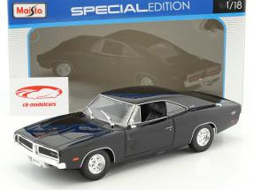 Dodge Charger R/T year 1969 black 1:18 Maisto