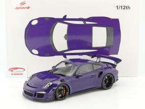 Porsche 911 (991) GT3 RS année de construction 2016 ultra violet 1:12 Spark