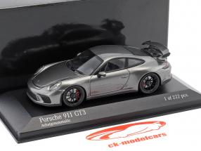 Porsche 911 (991 II) GT3 year 2017 agate grey metallic 1:43 Minichamps
