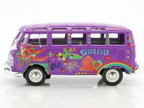 VW T1 de Volkswagen hippie púrpura flor poder bully Samba bus 1950-1967 1//25 1 //...