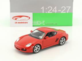 Porsche Cayman S année de construction 2006 rouge 1:24 Welly