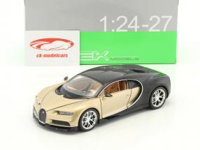 Bugatti Chiron anno di costruzione 2017 oro / nero 1:24 Welly