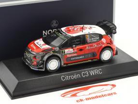 Citroen C3 WRC #7 Rallye Pologne 2017 Mikkelsen, Jaeger 1:43 Norev