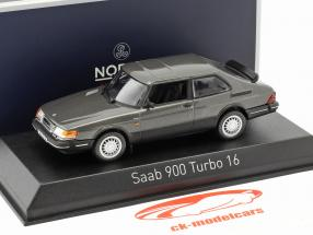 Saab 900 Turbo 16 year 1991 gray metallic 1:43 Norev
