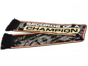 Michael Schumacher scarf Records of a champion black / red / gold