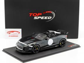 Jaguar F-Type Project 7 British Racing year 2015 green metallic 1:18 TrueScale