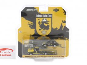 Ford F-350 Ramp Truck anno di costruzione 1969 con Shelby Cobra Terlingua Racing nero / giallo 1:64 Greenlight