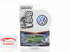 Volkswagen VW T2 cabine double Pick-Up année 1975 vert 1:64 Greenlight