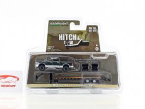 Dodge Ram 2500 anno di costruzione 2017 con Gooseneck Trailer verde metallico / argento 1:64 Greenlight