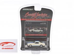 Ford Mustang Shelby GT350 Fastback year 1965 white / blue 1:64 Greenlight