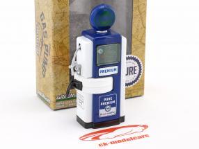 Wayne 100-A Pure Oil Zapfsäule 1948 blau / weiß - grüne Version 1:18 Greenlight