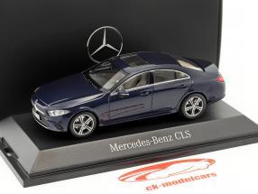 Mercedes-Benz CLS coupé (C257) année de construction 2018 cavansite bleu métallique 1:43 Norev