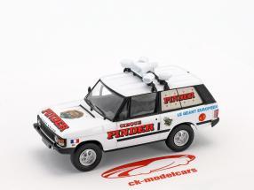 Range Rover publicité véhicule Pinder cirque blanc / rouge en cloque 1:43 Direkt Collections