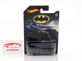 Batmobile DC Comics gray metallic with blue wheels 1:64 HotWheels