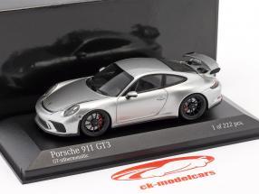 Porsche 911 (991 II) GT3 year 2017 silver metallic 1:43 Minichamps
