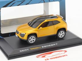 Seat Tribu Concept Car year 2007 orange metallic 1:43 Norev