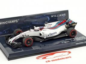Gary Paffett Williams FW40 #41 test bahrain formule 1 2017 1:43 Minichamps