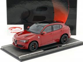 Alfa Romeo Stelvio Quadrifoglio Los Angeles Auto Show 2016 red metallic / black 1:18 BBR