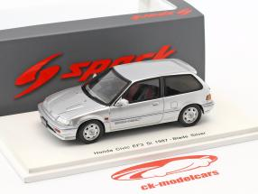 Honda Civic EF3 Si year 1987 silver 1:43 Spark