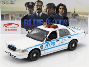 Ford Crown Victoria Police Interceptor NYPD 2001 TV series Blue Bloods white / blue 1:18 Greenlight