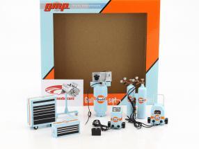 Gulf Set laboratorio attrezzatura gulf blu / arancione 1:18 GMP
