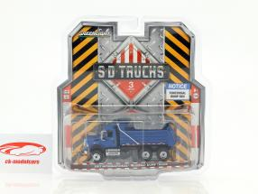 International Work Star Dump Truck year 2017 blue 1:64 Greenlight