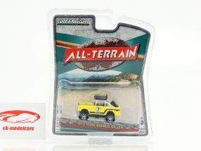 Ford Bronco Baja All-Terrain year 1972 yellow 1:64 Greenlight