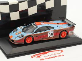 McLaren F1 GTR #39 24h LeMans 1997 Bellm, Gilbert-Scott, Sekiya 1:43 Minichamps false overpack
