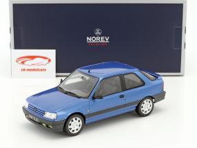 Peugeot 309 GTi 16V année de construction 1991 bleu métallique 1:18 Norev