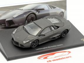 Lamborghini Reventon anno di costruzione 2007 ottuso nero 1:43 Leo Models