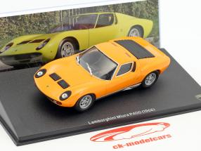 Lamborghini Miura P400 year 1966 orange 1:43 Leo Models