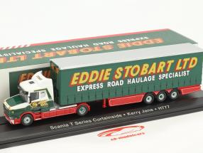 Scania T Series Curtainside Kerry Jane H777 Stobart Power verde / bianco 1:76 Atlas