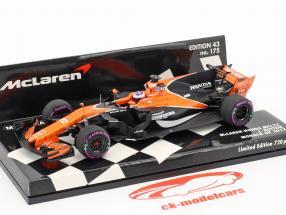 Jenson Button McLaren MCL32 #22 monaco GP formula 1 2017 1:43 Minichamps