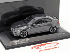 BMW M2 coupe year 2016 gray metallic 1:43 Minichamps