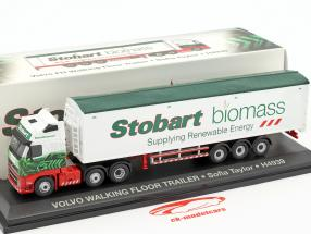 Volvo FH Walking Floor Trailer Sofia Taylor H4939 Stobart green / White 1:76 Atlas