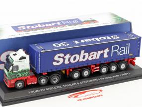 Volvo FH Skeletal Trailer & Container Victoria Jade H4941 Stobart green / white / blue 1:76 Atlas