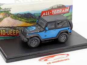 Jeep Wrangler All-Terrain The General Mopar year 2010 blue / black 1:43 Greenlight