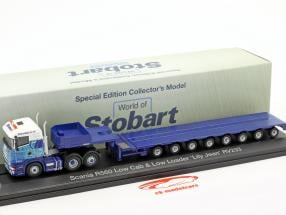 Scania R560 Low Cab & Low Loader Lily Jean RV233 Stobart blu / bianco 1:76 Atlas