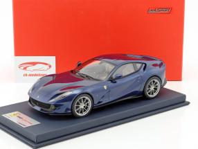 Ferrari 812 Superfast blue metallic with showcase 1:18 LookSmart