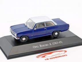 Opel Rekord A Baujahr 1963-1965 blau / weiß 1:43 Hachette