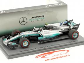 V. Bottas Mercedes F1 W08 EQ Power  #77 gagnant Österreich GP F1 2017 1:43 étincelle