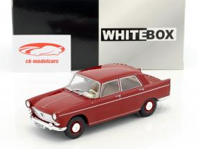 Peugeot 404 année de construction 1960 rouge 1:24 WhiteBox